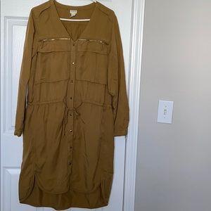Mustard jean fabric dress